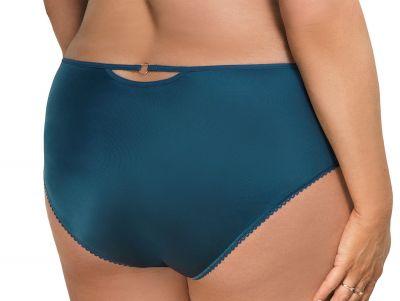 Gorsenia Karina Briefs Ocean Blue Midi briefs with medium high waist M - 4XL K571