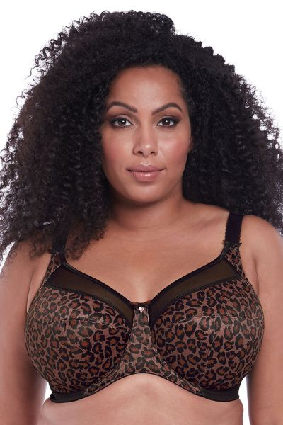 Kayla UW Banded Bra Dark Leopard