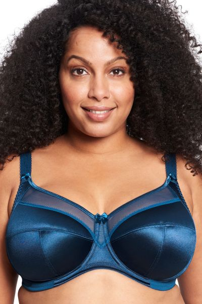 Goddess Keira UW Banded Bra Petrol Underwired, non-padded banded bra 75-105, E-O GD6090-PEO