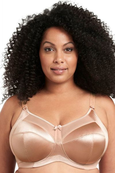 Goddess Keira Soft Cup Non-Wired Bra Fawn Unpadded, non-wired full cup bra 90-130 D-H GD6093-FAN