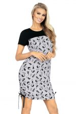 Kitty Nightdress Grey/Black