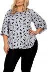 Hamana Kitty Pyjama Set with Top and Leggings Grey/Black-thumb  S-5XL
