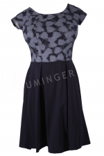 Koalicja Cap Sleeve Dress with Feather Print Top