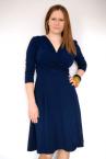Koperta Dress with 3/4 Sleeves Dark Blue-thumb