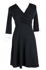 Koperta Dress with 3/4 Sleeves Black