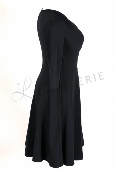 Koperta Dress with 3/4 Sleeves Black