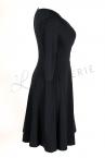 Koperta Dress with 3/4 Sleeves Black-thumb