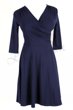 Koperta Dress with 3/4 Sleeves Dark Blue
