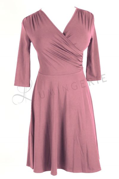 Koperta Dress with 3/4 Sleeves Smoky Lilac
