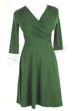 Koperta Dress with 3/4 Sleeves Kale