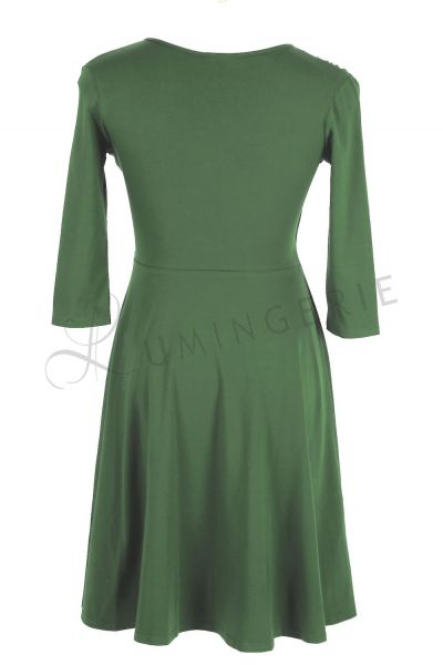 Koperta Dress with 3/4 Sleeves Kale