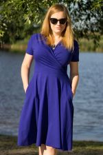 Koperta Dress with Short Sleeves Ultramarine
