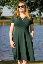 Koperta Dress with Short Sleeves Deep Green