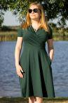 Koperta Dress with Short Sleeves Deep Green-thumb