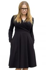 Koperta Dress with Full Sleeves Black