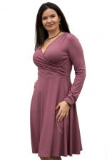 Koperta Dress with Full Sleeves Rose Brown