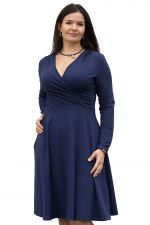 Koperta Dress with Full Sleeves Navy