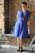 Koperta Short Sleeved Dress Saphire Blue