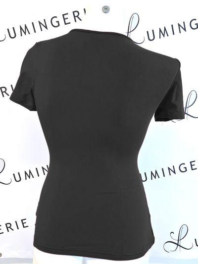 Urkye Kopertowka Short Sleeved Wrap Top Black Shortsleeved low-cut v-neck top 34-50, O/OO, OO/OOO BL-038-CZA-SS21