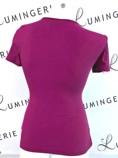 Urkye Kopertowka Short Sleeved Wrap Top Purple Shortsleeved low-cut v-neck top 34-50, O/OO, OO/OOO BL-038-FIO-SS21