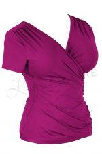 Kopertowka Short Sleeved Wrap Top Purple