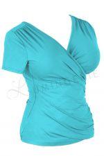 Kopertowka Short Sleeved Wrap Top Lagoon Blue