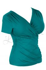 Kopertowka Short Sleeved Wrap Top Emerald
