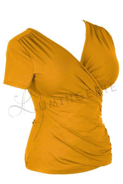 Kopertowka Short Sleeved Wrap Top Turmeric