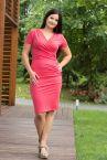 Urkye Kopertowy Olowek Short Sleeved Pencil Dress Hawthorn-thumb short sleeved pencil dress with wrap top 34-46 O/OO, OO/OOO SU-025-CZE