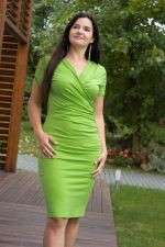 Kopertowy Olowek Short Sleeved Pencil Dress Green