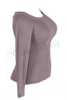 Urkye Kukulka Long Sleeved Top Grey Lilac-thumb  34-44 O/OO, OO/OOO BL-030