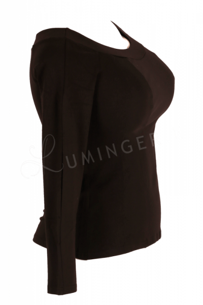 Urkye Kukulka Long Sleeved Top Black  34-44 O/OO, OO/OOO BL-030
