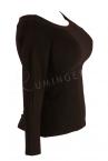 Urkye Kukulka Long Sleeved Top Black-thumb  34-44 O/OO, OO/OOO BL-030