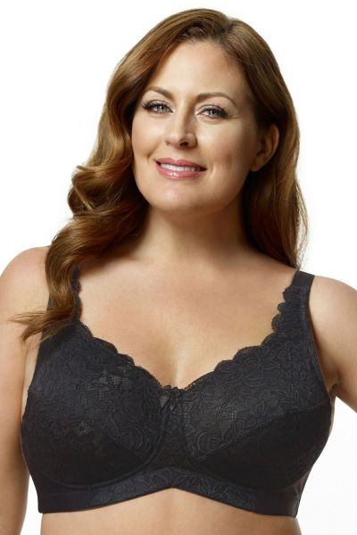 Lace Soft Cup Bra Black