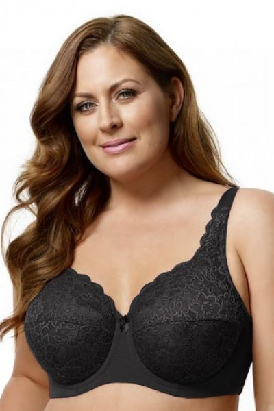 Lace Full Cup Bra Black