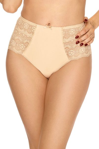 Bella Misteria Lace Fantasia HW Brazilian Beige High waist lace brazilian S/36 - 2XL/44 MA-35-BEZ-FB2