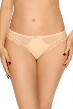 Lace Fantasia Midi Brief Beige