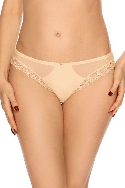 Bella Misteria Lace Fantasia Midi Brief Beige Normal waist classic brief S/36 - 4XL/48 MA-37-BEZ-FP1