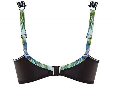 Panache Swimwear Lani Crop Top Bikini Aqua Underwired, nonpadded crop top bikini bra 65-85 E-K SW1272