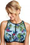 Panache Swimwear Lani Crop Top Bikini Aqua-thumb Underwired, nonpadded crop top bikini bra 65-85 E-K SW1272