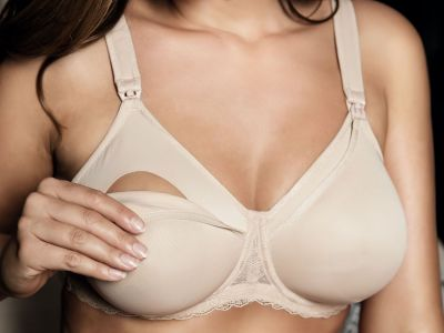 Leila Wired Nursing Bra Beige