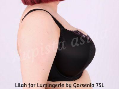 Lilah Soft Bra Black Lilac