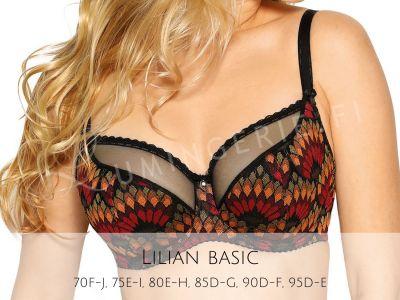Gaia Lingerie Lilian Semi Soft Bra Magic Underwired, semi-soft bra 75-105, D-L BS--984-CZA