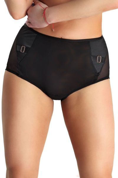 Linda High Waist Brief Black