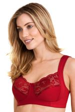 Lovely Lace Non-Wired Bra Red