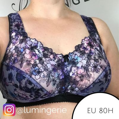 Miss Mary Heavenly Blossom Non-Wired Full Cup Bra Blue Floral Non-wired full cup bra. 80-110 D-H MM-2959-BLK