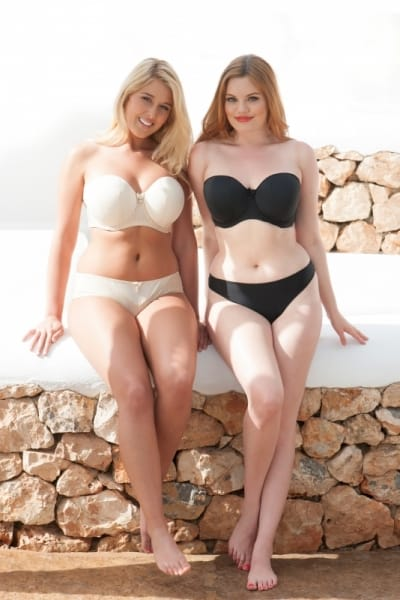 Curvy Kate Luxe Strapless Multiway Bra Black Underwired, padded, strapless multiway bra 60-90 D-M CK2601