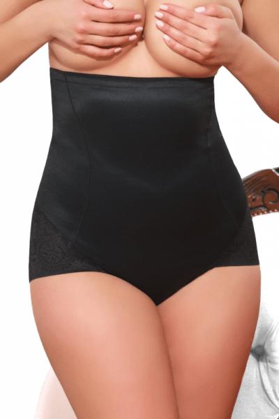 Magic Body Control Laser Cut High Waist Brief Black