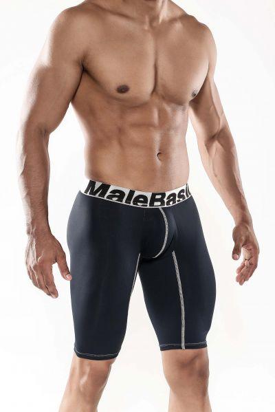 MaleBasics Performance boxer black MBM04 Boxer brief with long legs 78% Nylon, 22% Spandex S-XL MBM04
