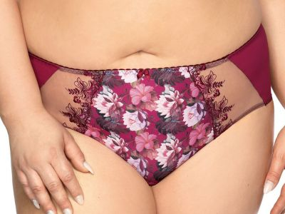 Margaret Briefs Plum Lotus Print